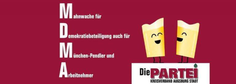 Mahnwache für Demokratiebeteiligung auch für München-Pendler und Arbeitnehmer – kurz MDMA