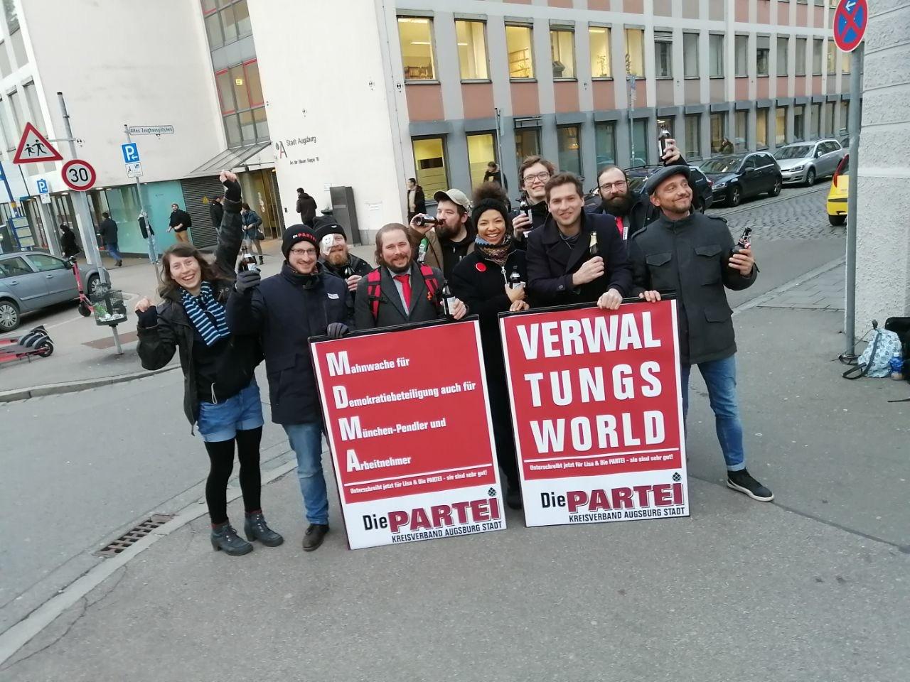 Pressemitteilung: Die PARTEI tritt bei der Kommunalwahl 2020 in Augsburg an