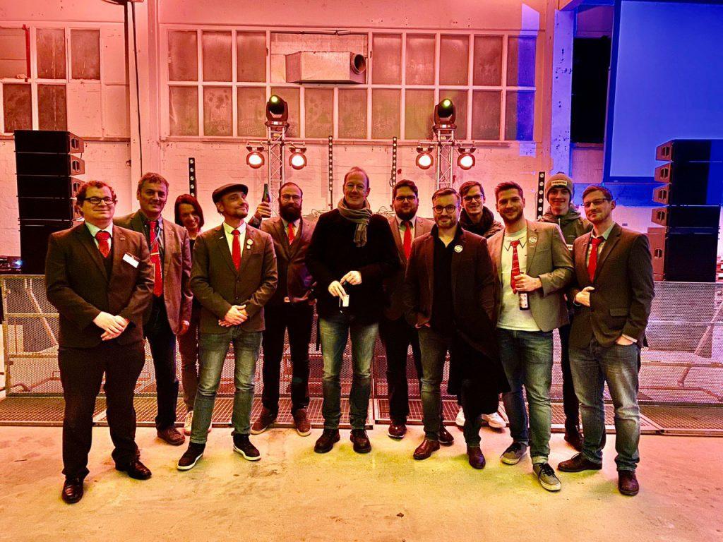Die PARTEI Augsburg mit dem größten Vorsitzenden aller Zeiten Martin Sonneborn
